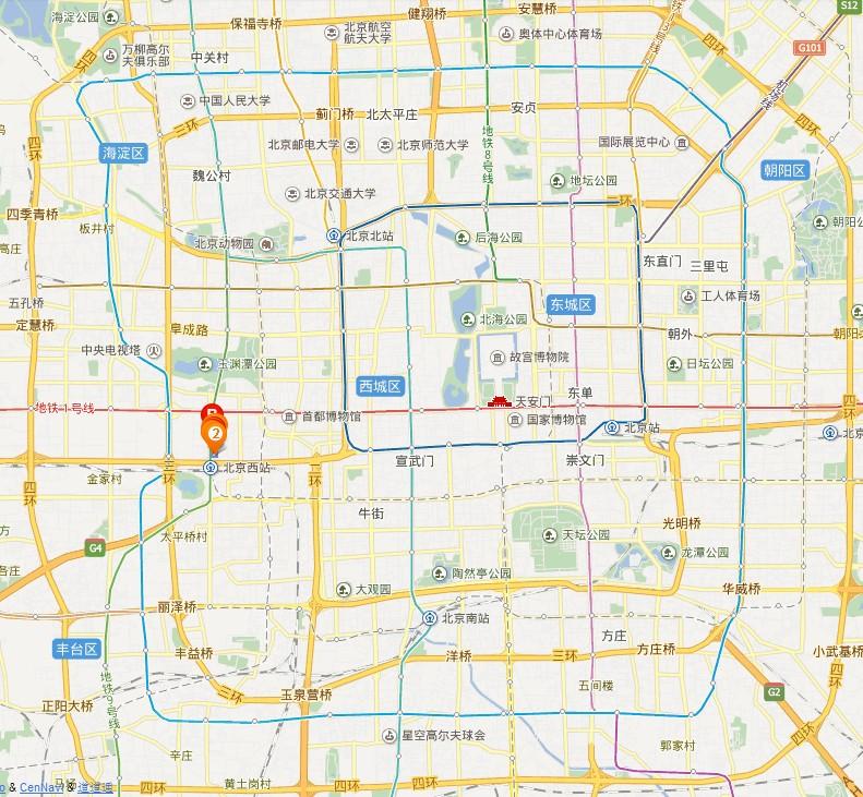 光耀东方地图